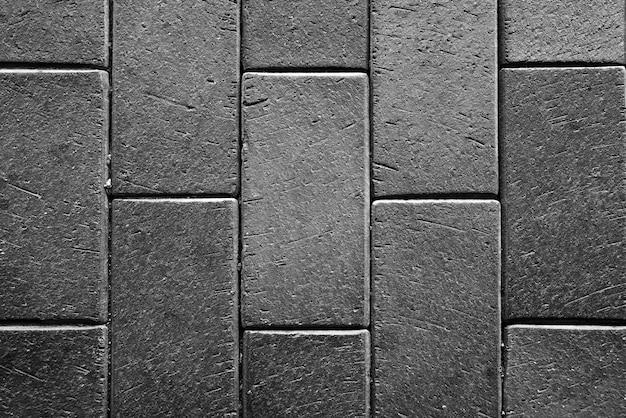 Czarno-białe betonowe płytki chodnikowe tekstury