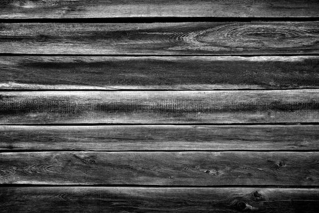 Czarno-białe deski drewniane tekstury powierzchni jako tło