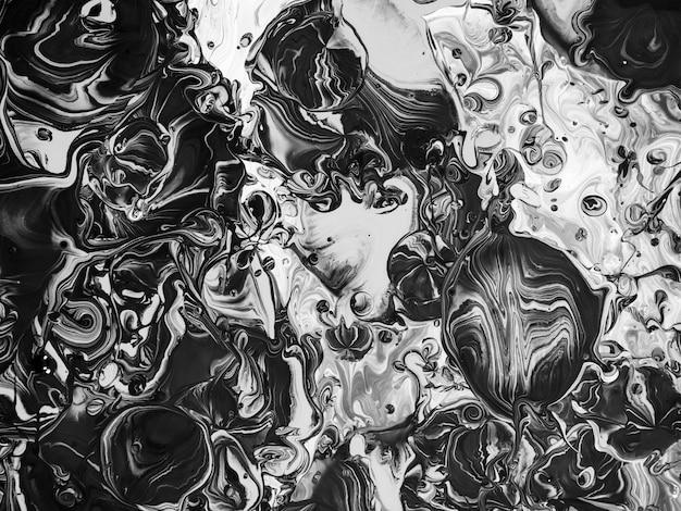 Czarno-białe malarstwo abstrakcyjne