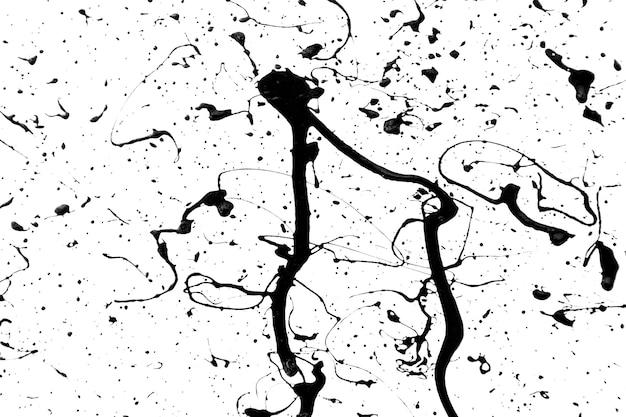 Czarno-białe tło kreatywnych z plamami czarnej farby na białym tle.