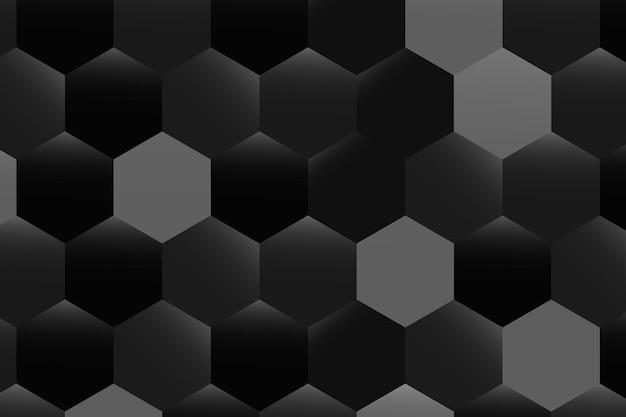 Czarno-białe tło w kształcie sześciokąta