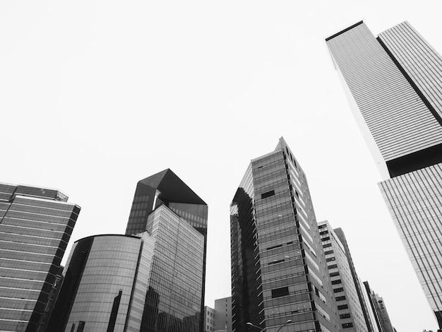 Czarno-białe wieżowce