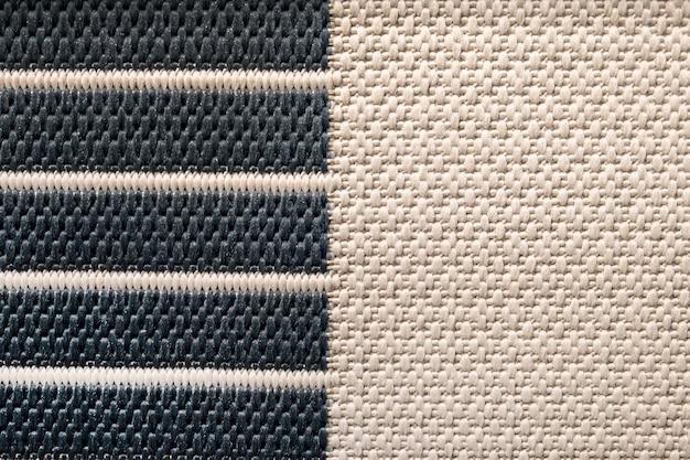 Czarno-biały naturalny sizal matujący powierzchnia, tekstura tło.
