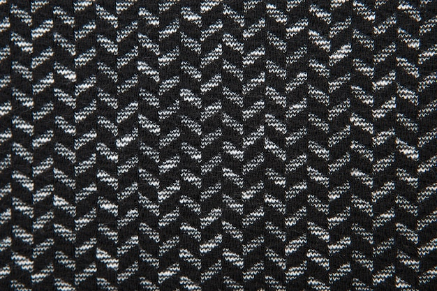 Czarno-biały wzór tekstury tkaniny w jodełkę