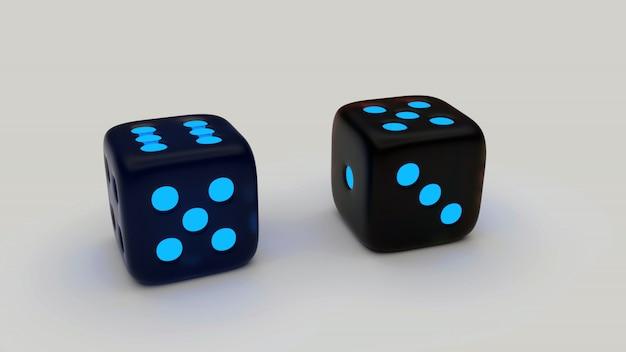 Czarno-niebieskie kostki ludo
