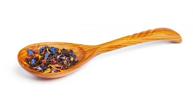 Czarno-zielona herbata cejlońska z suchymi kwiatami