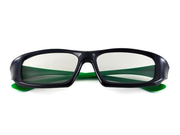 Czarno-zielone okulary 3d