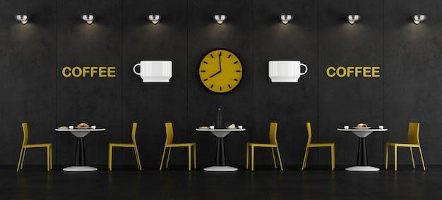 Czarno-żółty bar kawowy