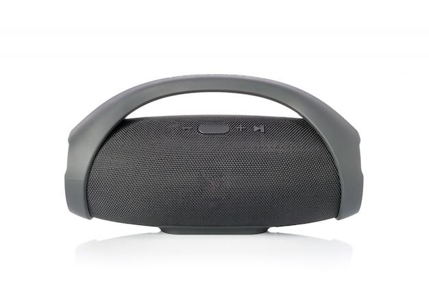 Czarny bezprzewodowy przenośny głośnik bluetooth