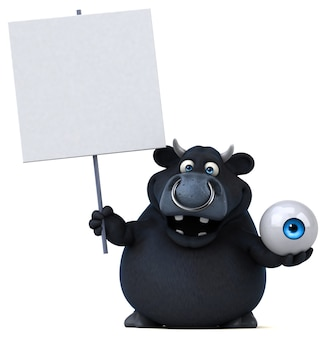 Czarny byk - ilustracja 3d