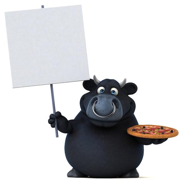 Czarny byk ilustracja