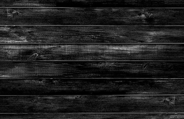 Czarny drewniany podłogowy tekstury tło