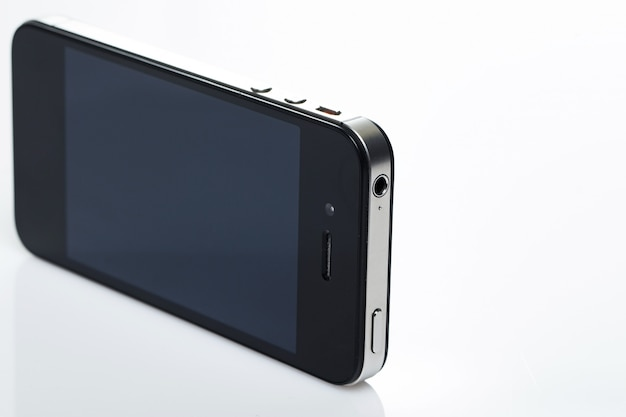 Czarny ekran smartfona