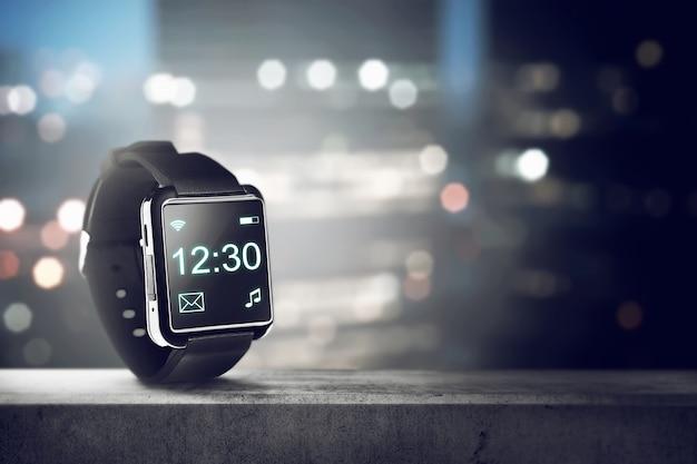 Czarny elegancki zegarek