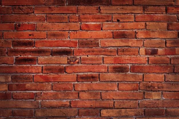 Czarny i czerwony ceglany mur tekstura tło wzór stary brudny i vintage styl