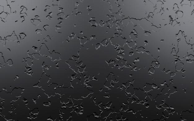 Czarny kamień porysowany tło, renderowania 3d