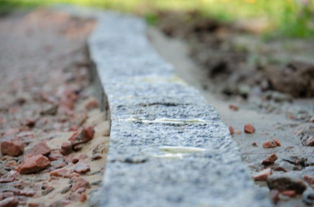 Czarny kamień tekstura tło naturalny blok mineralny