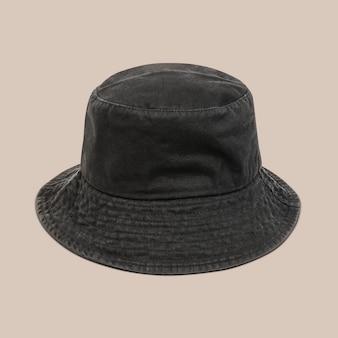Czarny kapelusz wiadro akcesorium unisex