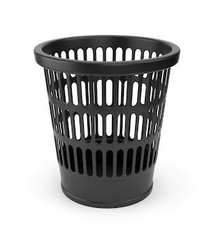 Czarny kosz na śmieci