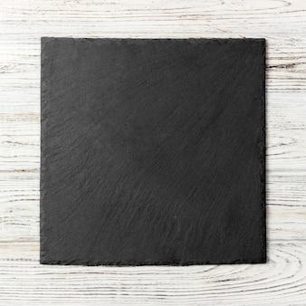 Czarny kwadratowy talerz