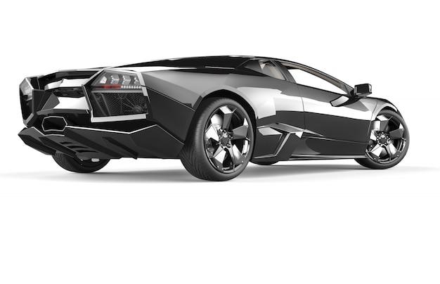 Czarny luksusowy samochód sportowy