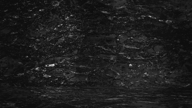 Czarny marmur naturalny tło, streszczenie czarno-białe.