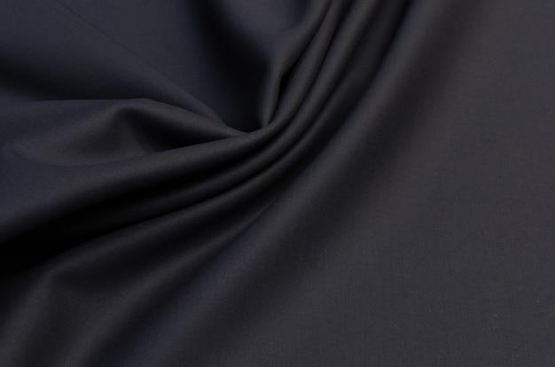Czarny materiał na odzież