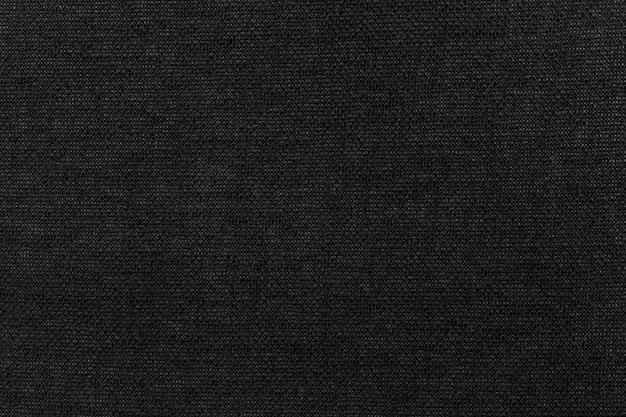 Czarny materiał tekstylny