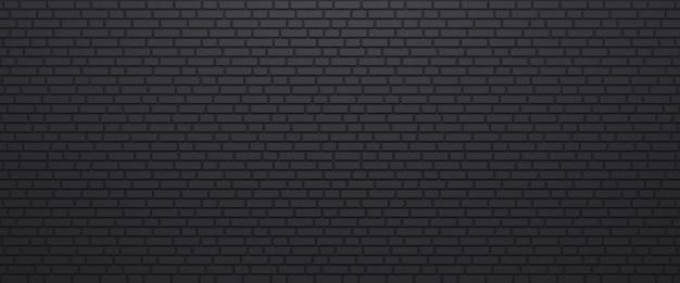 Czarny mur ceglany tekstura tło panorama muru