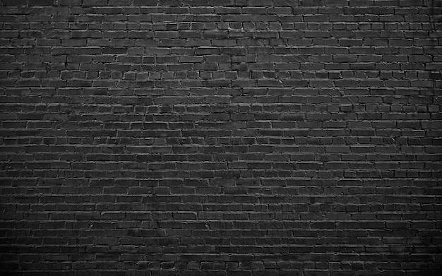 Czarny mur z cegły, mur do projektowania