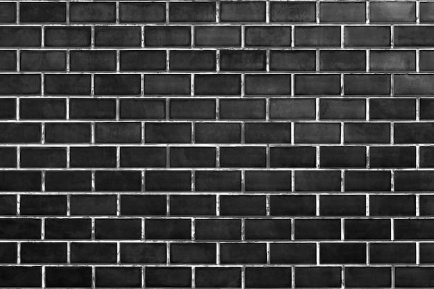 Czarny mur z cegły
