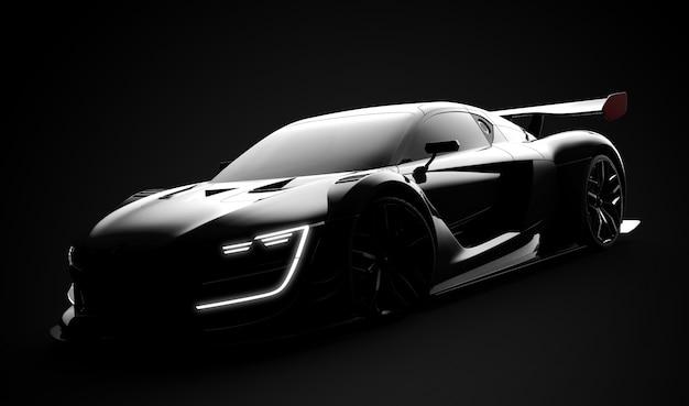 Czarny nowoczesny samochód sportowy