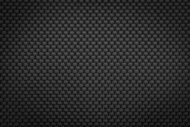 Czarny nylon tkanina tekstura tło dla projektantów mody odzieżowej.