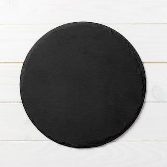 Czarny okrągły talerz