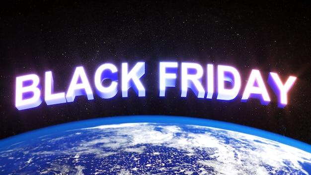 Czarny piątek festiwal jedzie do kosmosu, abstrakcyjne banery z rabatem w tle
