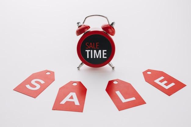 Czarny piątek koncepcja sprzedaży zegar