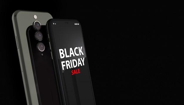 Czarny piątek na ekranie smartfona