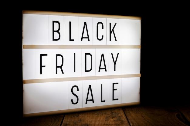 Czarny piątek sprzedaż light box
