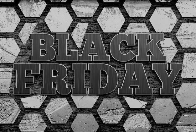 Czarny piątek sprzedaż transparent. renderowanie 3d