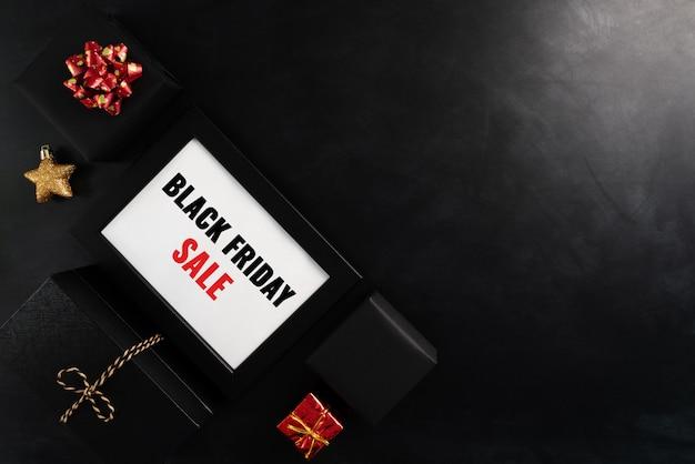 Czarny piątek wyprzedaż ramka na zdjęcia i prezenty