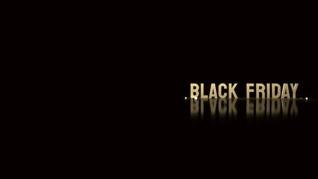 Czarny piątek złoty tekst na czarnym tle