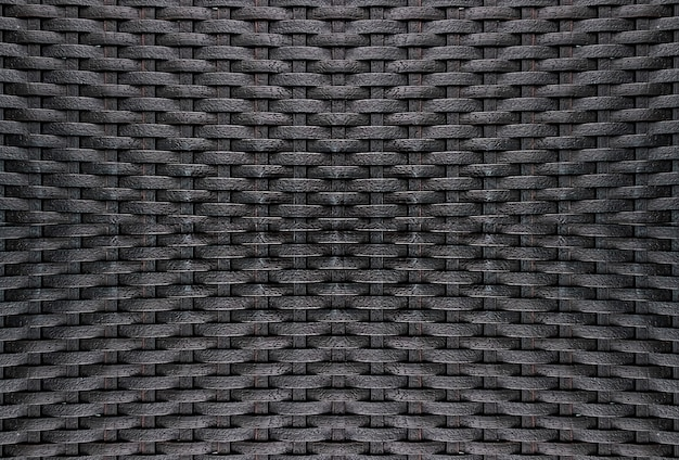 Czarny rattan wyplata tekstury tło