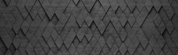 Czarny romb 3d wzór tła