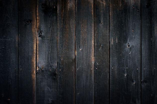Czarny stary drewniany tło z pionowo deskami