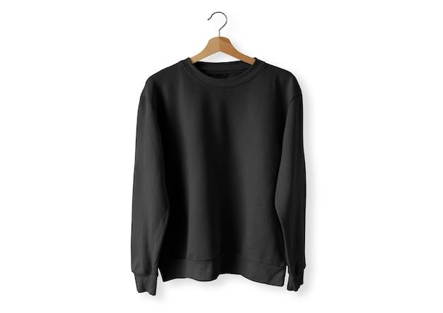Czarny sweter z przodu