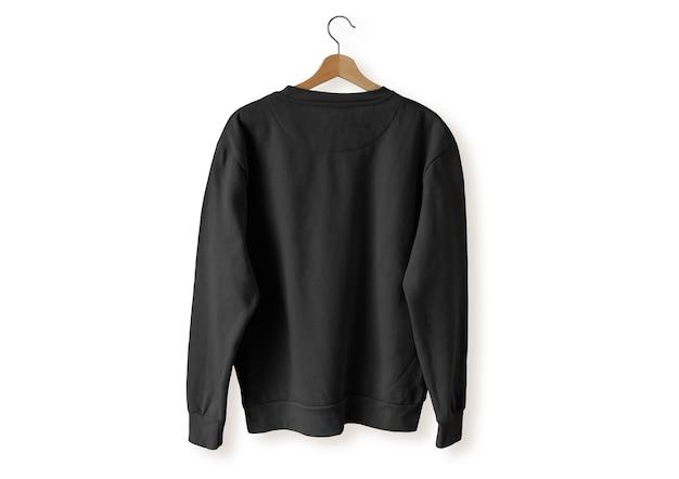 Czarny sweter z tyłu