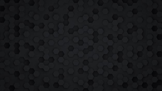 Czarny sześciokąt streszczenie tło