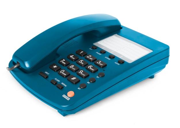 Czarny telefon na białym tle z odbiciem