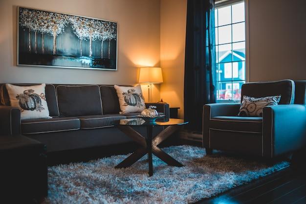 Czarny zestaw sof