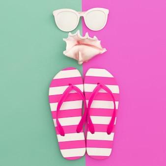 Czas wakacji. styl morski. minimalistyczny projekt mody
